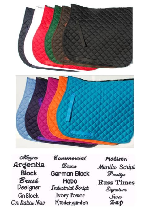 Saddle Cloth Package (5 for the price of 4) Suitable for Teams & Riding Sch