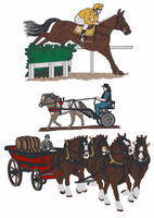 9I. HORSE RACING & DRIVING LOGO'S
