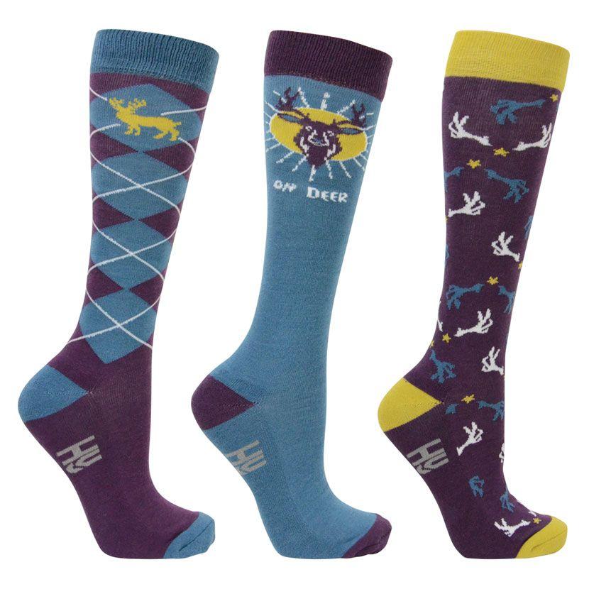 Hy Equestrian Oh Dear Socks (Pack of 3)