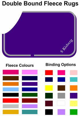 <!-- 007 -->Custom made Fleece Rug with Double Binding