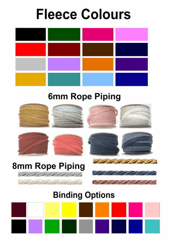 Rope Piped Fleece