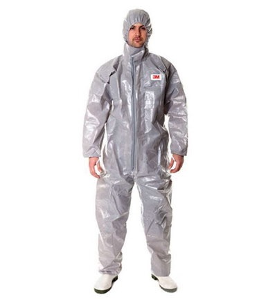 3M 4570 CHEMICAL COVERALL Grey Type 3/4/5/6 Disposable