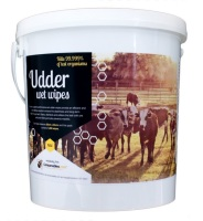 Wet Udder Wipes 500 sheets with Bucket