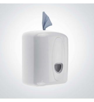 Lockable Plastic Standard Centrefeed & Wet Wipe Dispenser, White