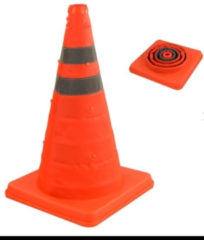 "18"" COLLAPSIBLE PULL OUT POP UP SAFETY TRAFFIC CONES"