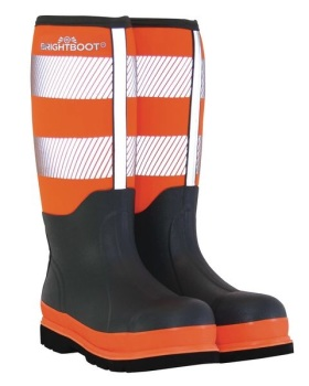 BRIGHTBOOT ORANGE HI-VIS SAFETY BOOT - TALL #order item