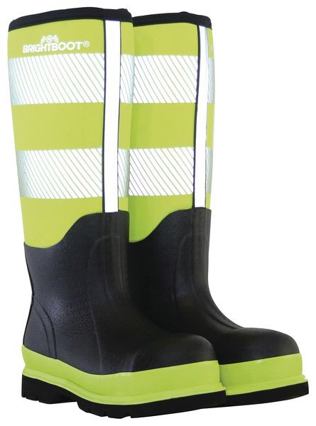 BRIGHTBOOTS YELLOW  HI-VIS SAFETY BOOT - TALL