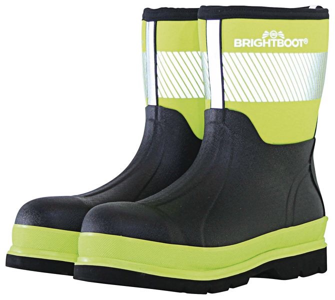 BRIGHTBOOTS YELLOW  HI-VIS SAFETY BOOT - MID