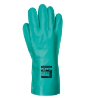 Portwest® A810 Nitrosafe Chemical Gauntlet, Green #instock