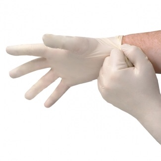 Medical Powder Free Disposabe Sterile Vinyl Stretch Gloves - 1pair   (GS66S) large