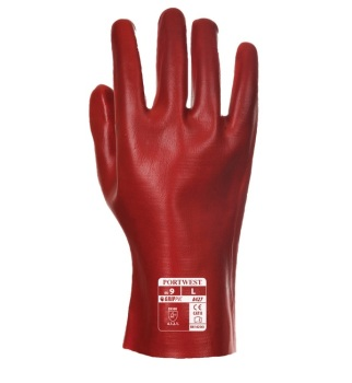 Portwest® A427 Red PVC Gauntlet XL  27cm (129-9589)
