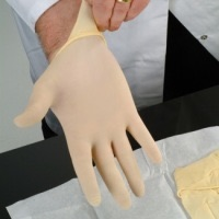 Medical Powder Free Disposabe Sterile Latex Gloves 1 pair Large (GS680S)