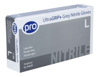 Pro UltraGRIP+ Grey Nitrile Gloves (50)