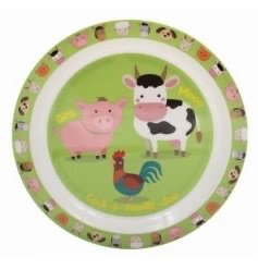 KIDS Little Stars Farmyard Plate