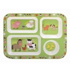 KIDS Little Stars Farmyard Compact Tray