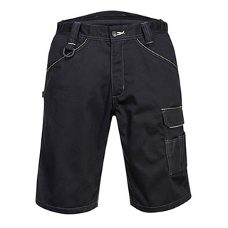 Portwest PW349 - PW3 Work Shorts  Black / Zoom Grey/Blk #order item