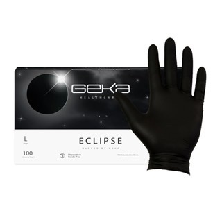 Geka Eclipse Black Nitrile Gloves (100)