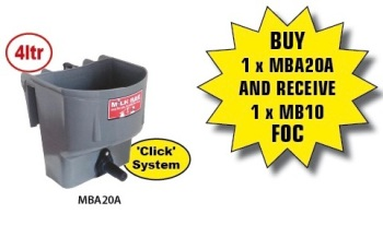 MILK BAR™ 1 CALF FEEDER C/W HOOKS TO FIT 25MM RAIL, 'CLICK' SYSTEM – MBA20A #order in 1-2 days