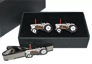 David Brown Tractor Cufflinks & Tie Clip Gift Boxed Set  #order item