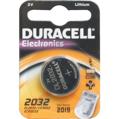 DL2032 Duracell Battery Button Lith 3V (PK-2)