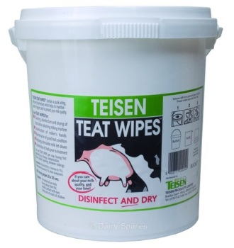 Teisen Teat-Wipe Bucket c/w 600 Wipes #order item 1-2 days #please call to check stock availability