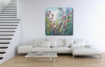 Meadow - Large Floral Abstract Canvas Art Giclee Print