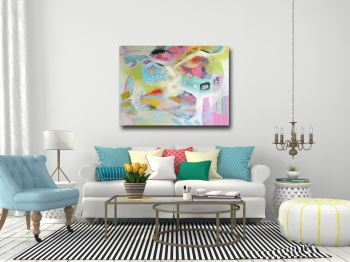 Candy Floss -  Large Abstract Canvas Art Print