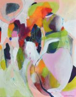 Funfair - Original Abstract Expressionist Painting on Canvas