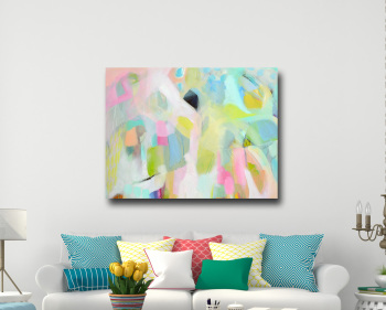 Tea Party II -  Large Abstract Canvas Art Print