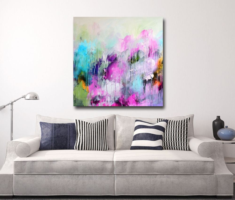 print of large abstract painting  giclee print  wall art  modern art canvas  expressive abstract