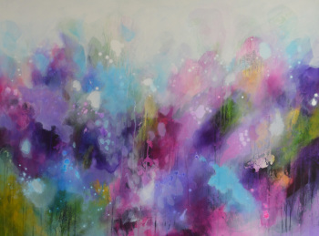 You Have Been Loved - Large Original Abstract Expressionist Painting on Canvas