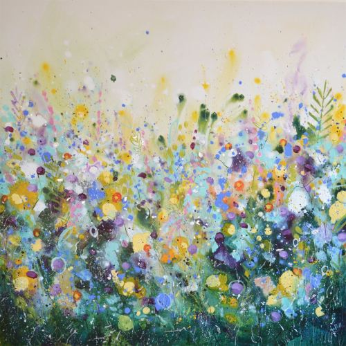 large abstract floral painting original modern expressionist