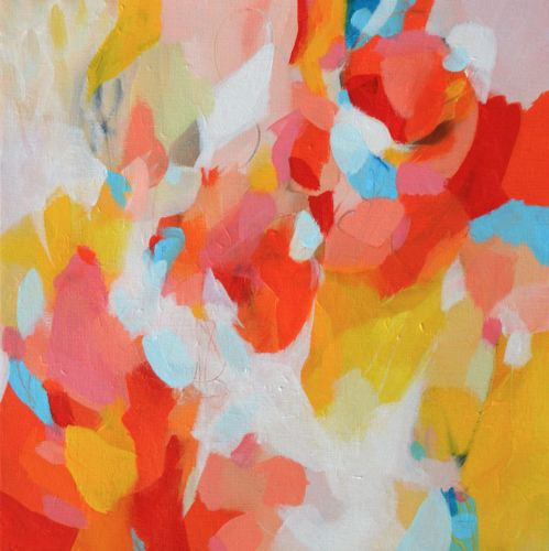 Letting Go - Original Abstract Expressionist Painting on Canvas