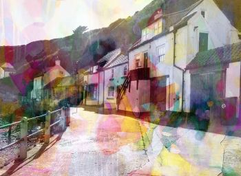 Colourful Staithes - Canvas Art Giclee Print