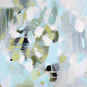 Blue, Grey and Green Abstract Art Giclee Print
