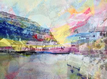 Staithes Beck - Colourful Giclee Print