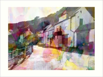 Colourful Staithes - Colourful Giclee Print on Paper