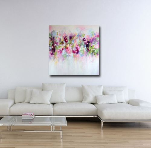 Eva - Large Floral Abstract Canvas Art Giclee Print