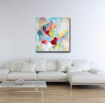 Henrietta - Large Abstract Canvas Art Giclee Print