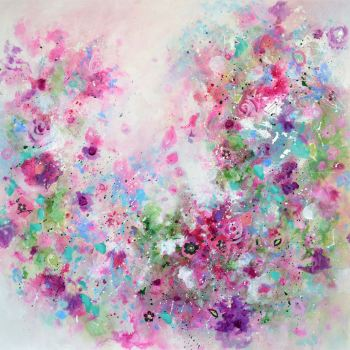 Floribunda -  Abstract Floral Art Giclee Print