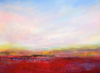 Red Landscape - Colourful Abstract Landscape Giclee Print on Paper