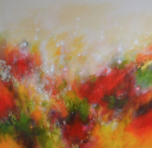 Autumnal Fire - Large Original Abstract Expressionist Painting on Canvas