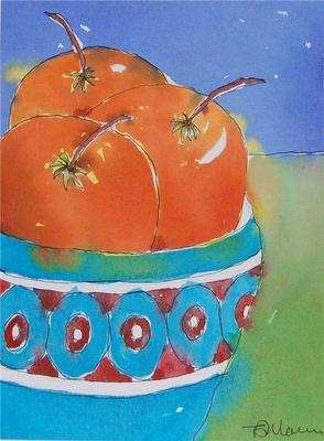 Colourful Original Still Life Painting - Oranges