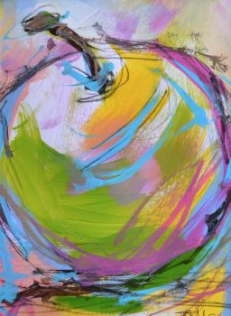 Colourful Apple I - Original Painting