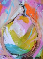 Colourful Pear I - Original Painting