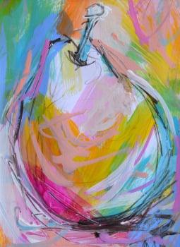 Colourful Pear II - Original Painting
