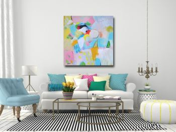 Beatrice - Large Abstract Canvas Art Giclee Print from Painting