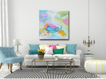 Alice - Large Abstract Canvas Art Giclee Print from Painting