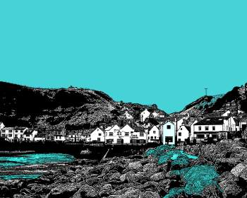 Teal Staithes - Colourful Giclee Print
