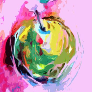 Abstract Apple Art Giclee Print